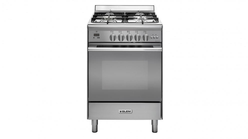 Glem 600mm Freestanding Natural Gas Cooker - Stainless Steel