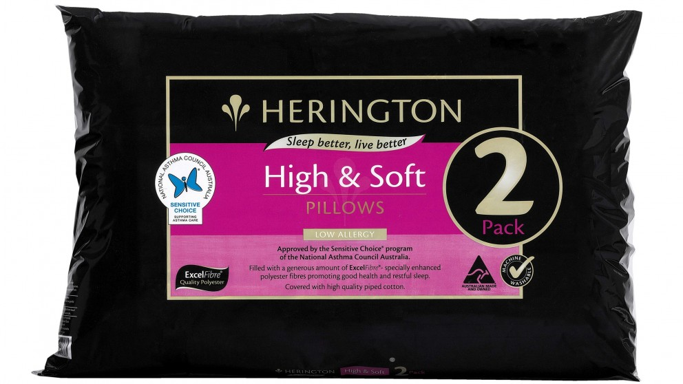 Herington High and  Soft Twin Pack Pillows