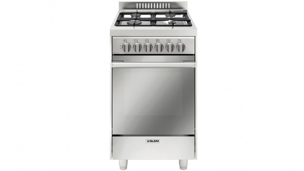Glem 530mm Freestanding Dual Fuel Cooker - Stainless Steel