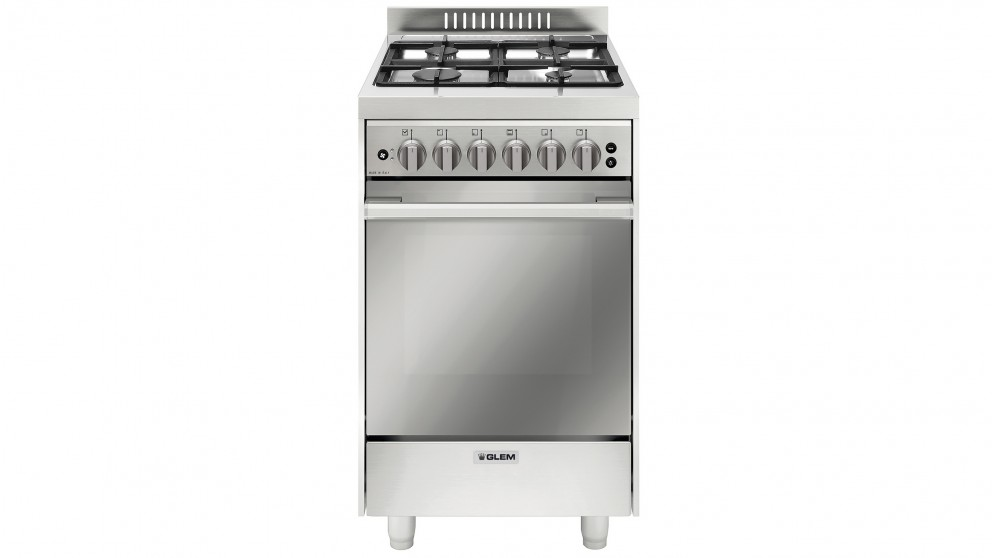 Glem 530mm Freestanding All Gas Cooker - Stainless Steel