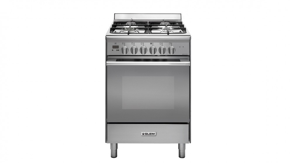 Glem 600mm Freestanding Dual-Fuel Cooker - Stainless Steel
