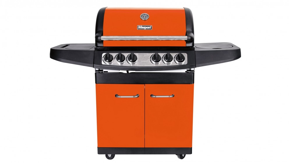 Masport Maestro 4 Burner Hooded BBQ - Burnt Orange
