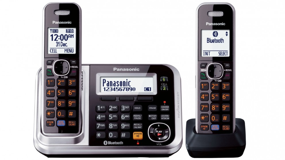 Panasonic kxtg7892azs twin pack cordless phone home phones panasonic kxtg7892azs twin pack cordless phone sciox Images