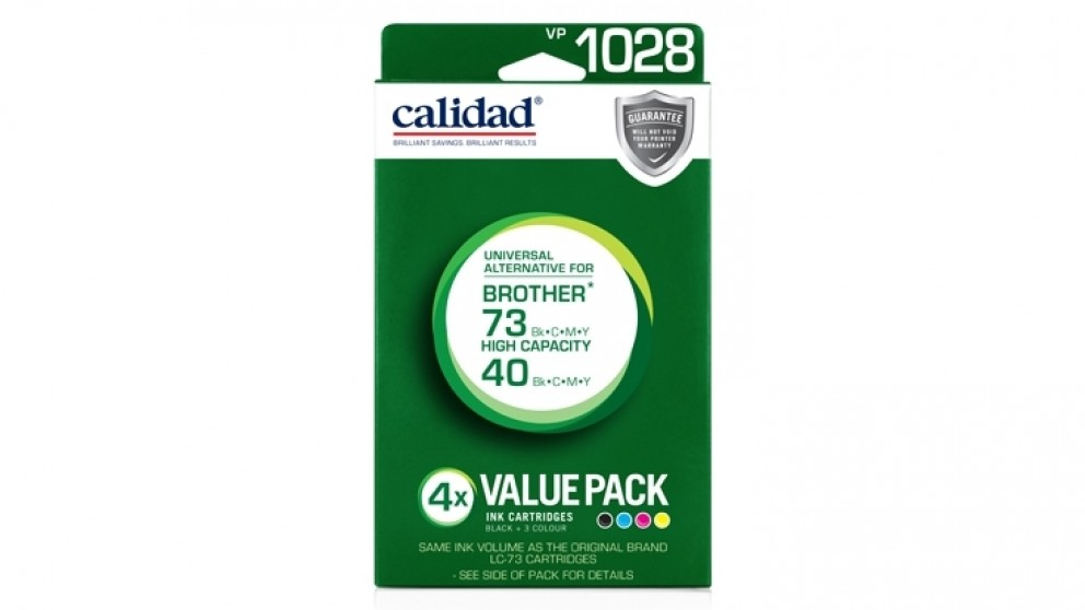 Calidad Brother LC73BCMY Ink Cartridge - Black and Tri-Colour Value Pack