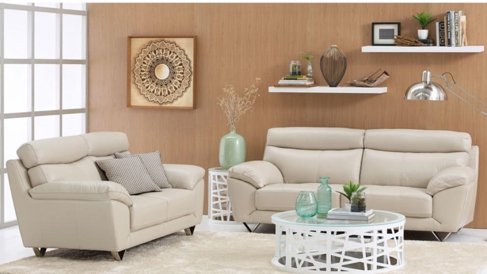 Chloe 2 Piece Leather Lounge Suite