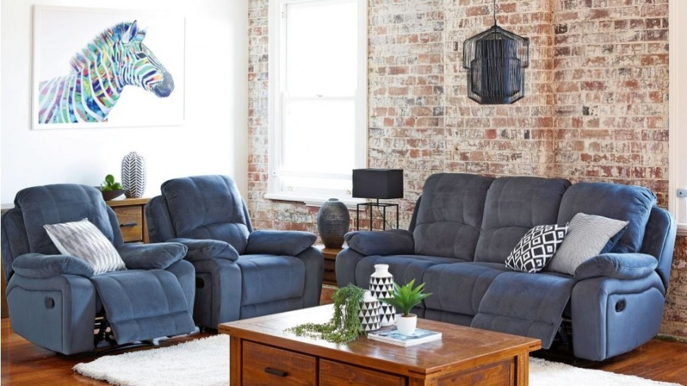 Turin 3 Piece Fabric Recliner Lounge Suite