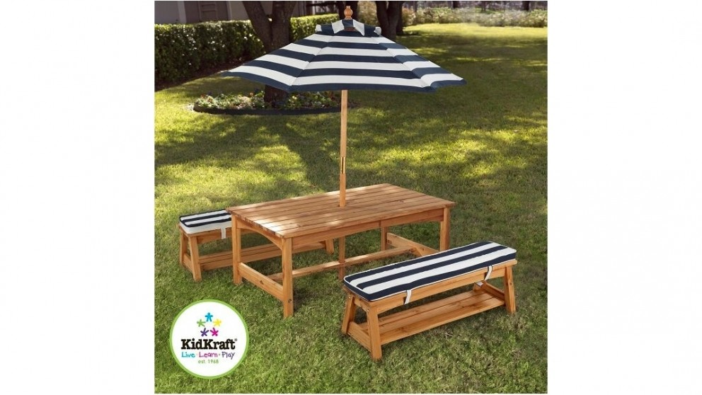KidKraft Outdoor Table U0026 Bench Seat With Umbrella   Cubby U0026 Play Houses    Wheeled U0026 Outdoor Activities   Toys, Kids U0026 Baby | Harvey Norman Australia
