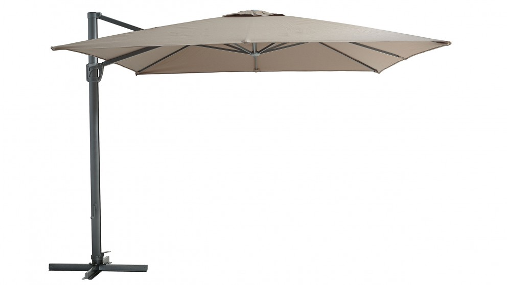 Pampa 3.5M Octagonal Cantilever Outdoor Umbrella - Toffee