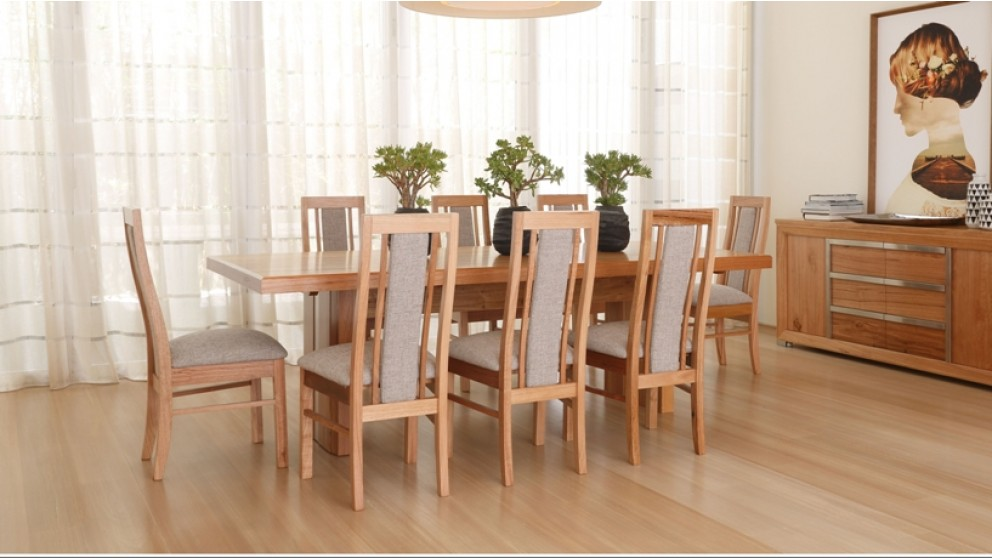 paramount 9 piece dining setting - dining furniture - dining room