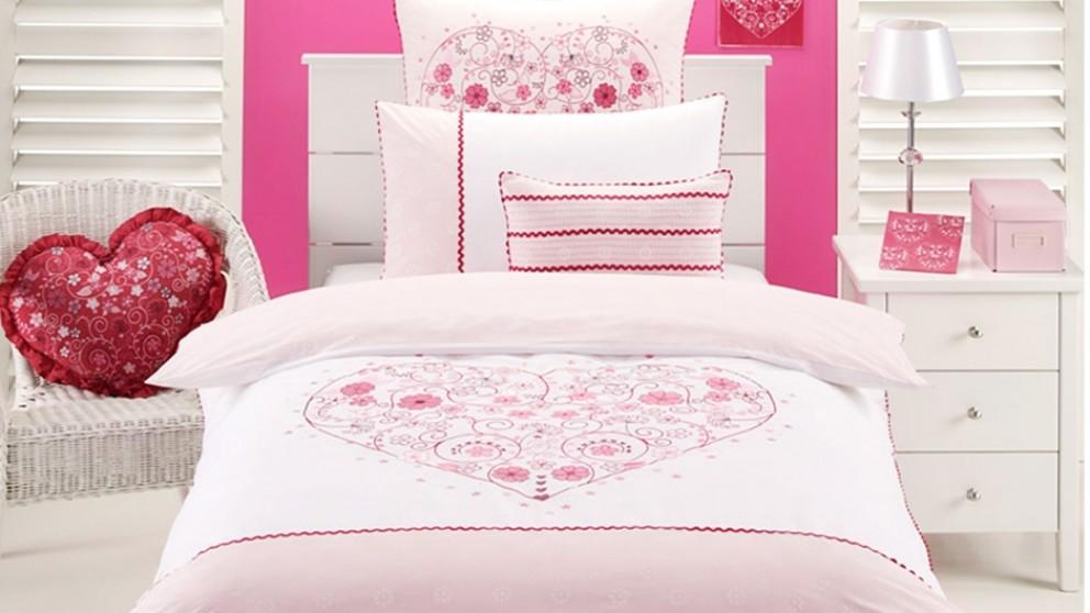 Floral Heart Single Quilt Cover Set