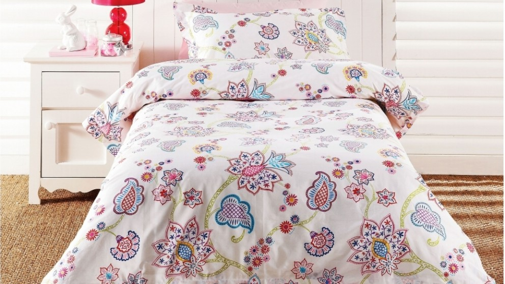 Polly Paisley Quilt Cover Set - Double