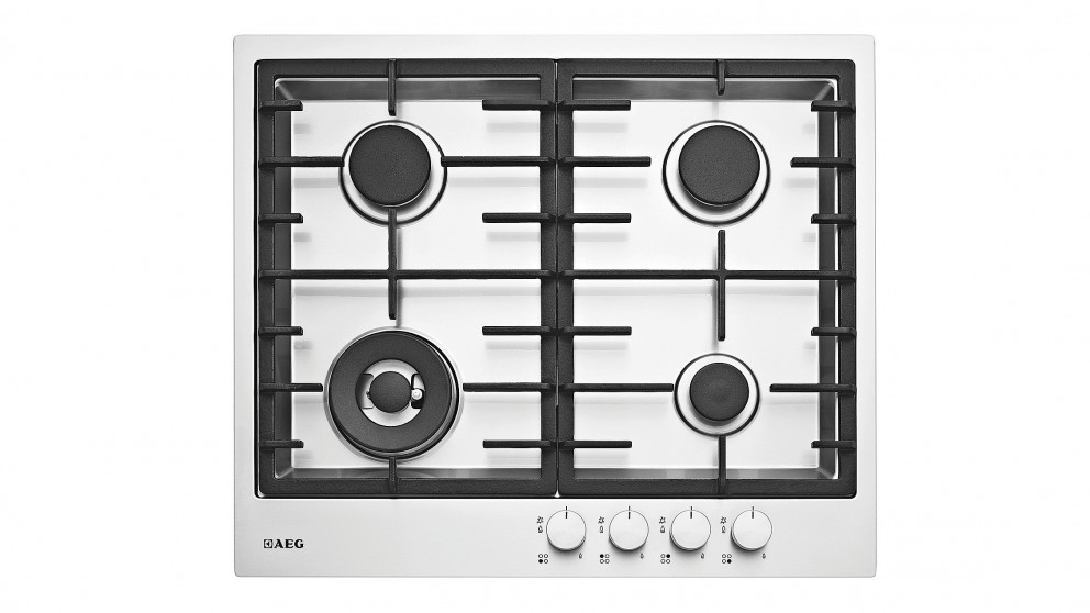AEG 600mm 4 Burner Natural Gas Cooktop - Stainless Steel