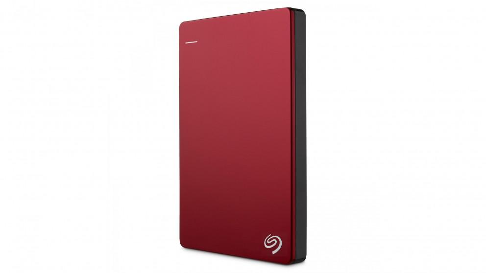 Seagate Backup Plus Slim 2TB Portable Hard Drive - Red