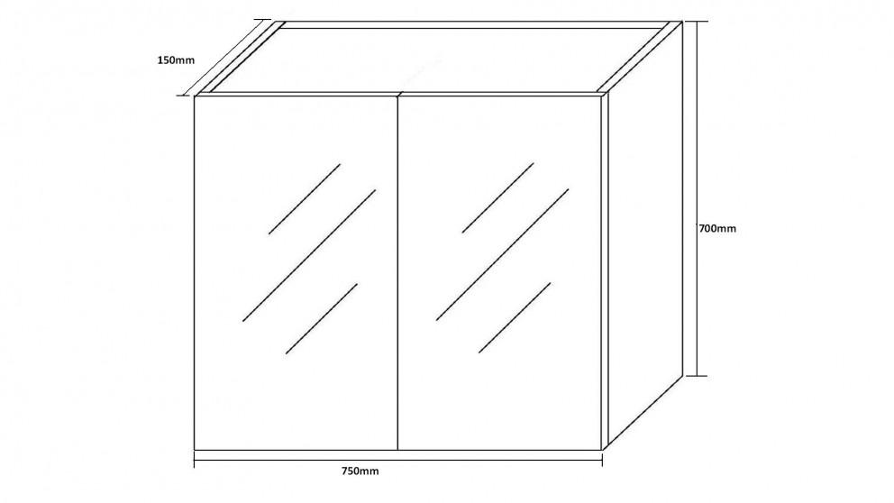 Buy cartia danni 750 shaving cabinet harvey norman au for Bathroom cabinets harvey norman