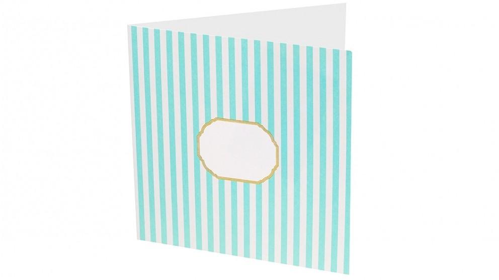 Instax Photo Card - Pale Blue Stripes