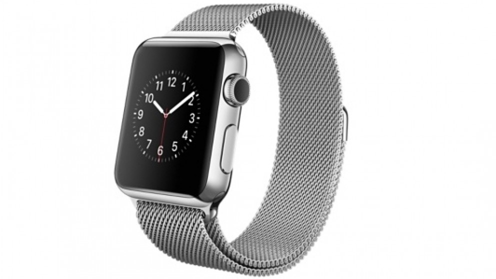 The Original Apple Watch 38mm Stainless Steel Case With Milanese Loop