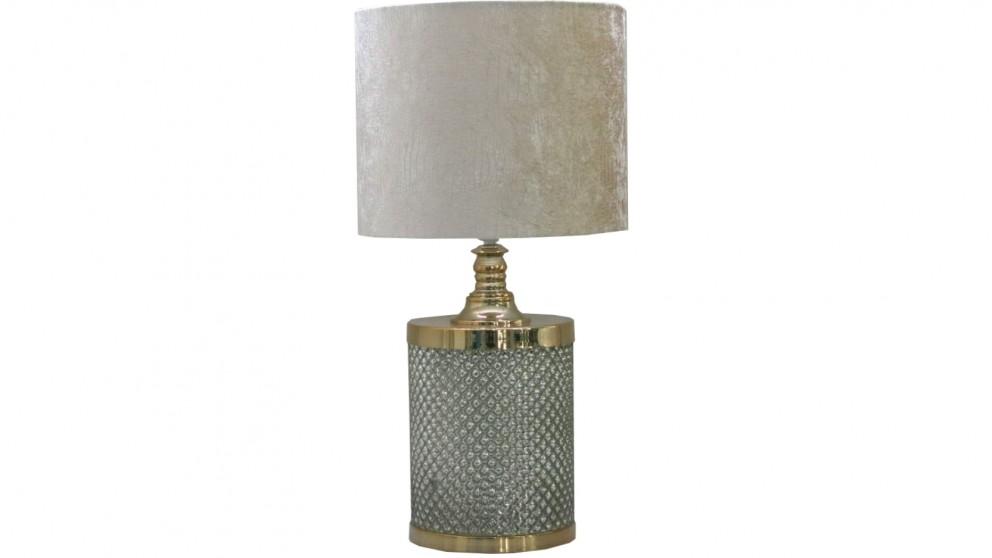 Buy simona table lamp gold harvey norman au for Lamp table harvey norman