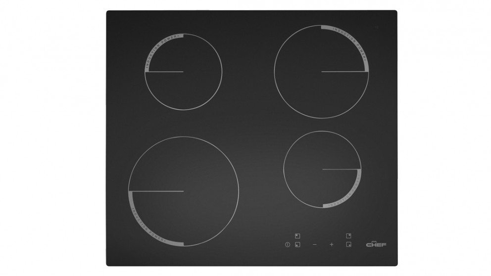 Chef 70cm 4 Zone Boosted Induction Cooktop with Touch Control