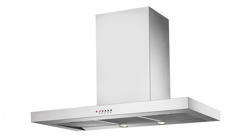 Chef 900mm Box Style Canopy Rangehood with Push Button Control