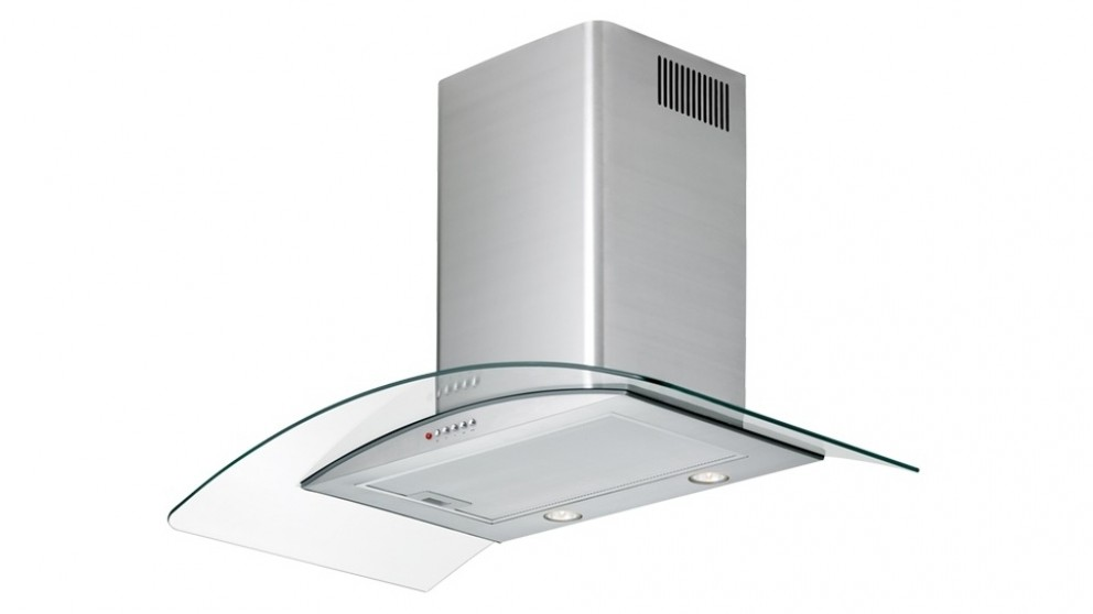 Chef 900mm Curved Glass and Stainless Steel Canopy Rangehood