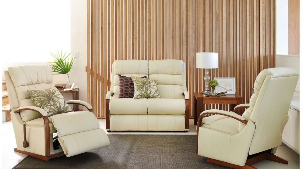 Buy charleston 3 piece leather recliner lounge suite for Leather living room suit