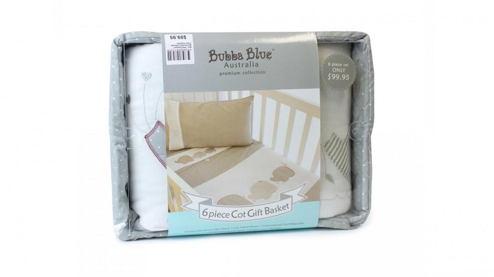 Bubba Blue 6-Piece Petit Elephant Cot Gift Set