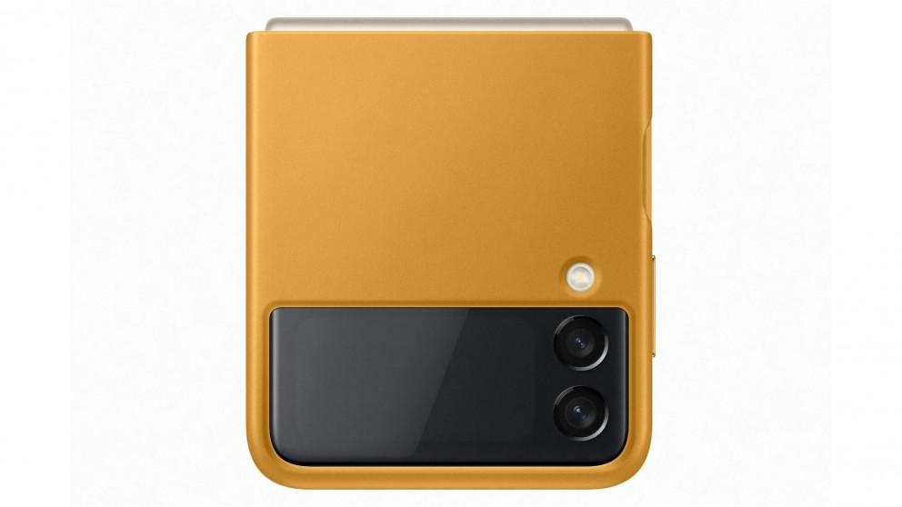 Samsung Galaxy Z Flip3 5G Leather Cover - Mustard