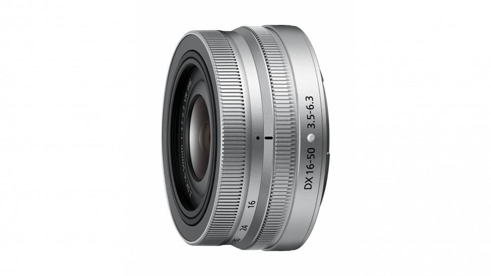 Nikon Nikkor Z DX 16-50mm f/3.5-6.3 VR Lens - Silver