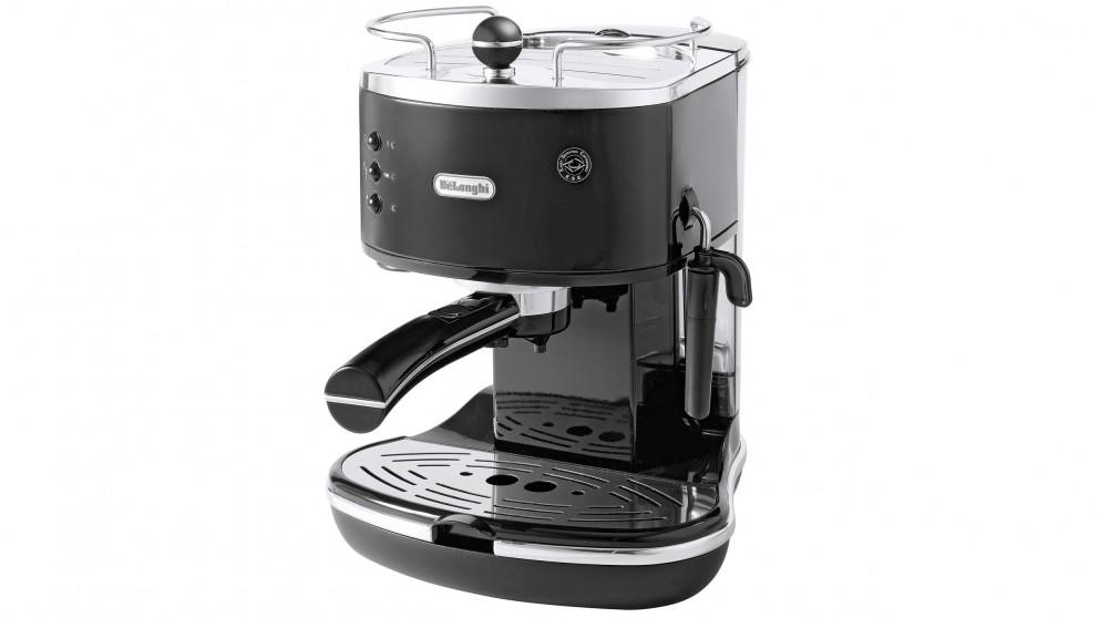 DeLonghi ECO310 Icona Pump Espresso Coffee Machine - Black