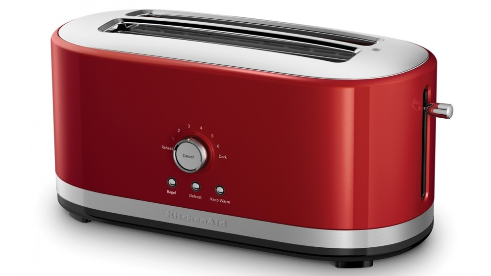 KitchenAid 4 Slice Long Slot Toaster - Red