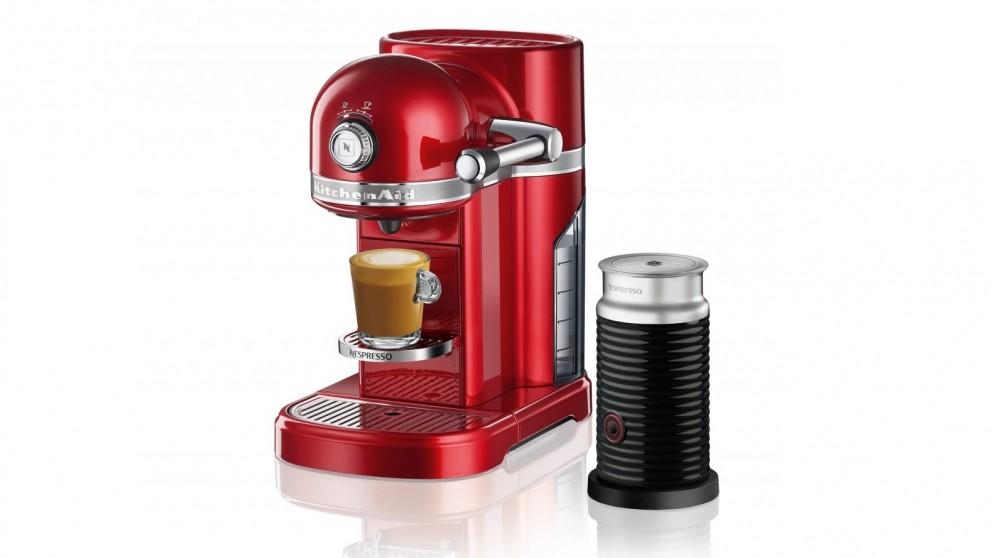 KitchenAid Nespresso Coffee Machine - Candy Apple Red