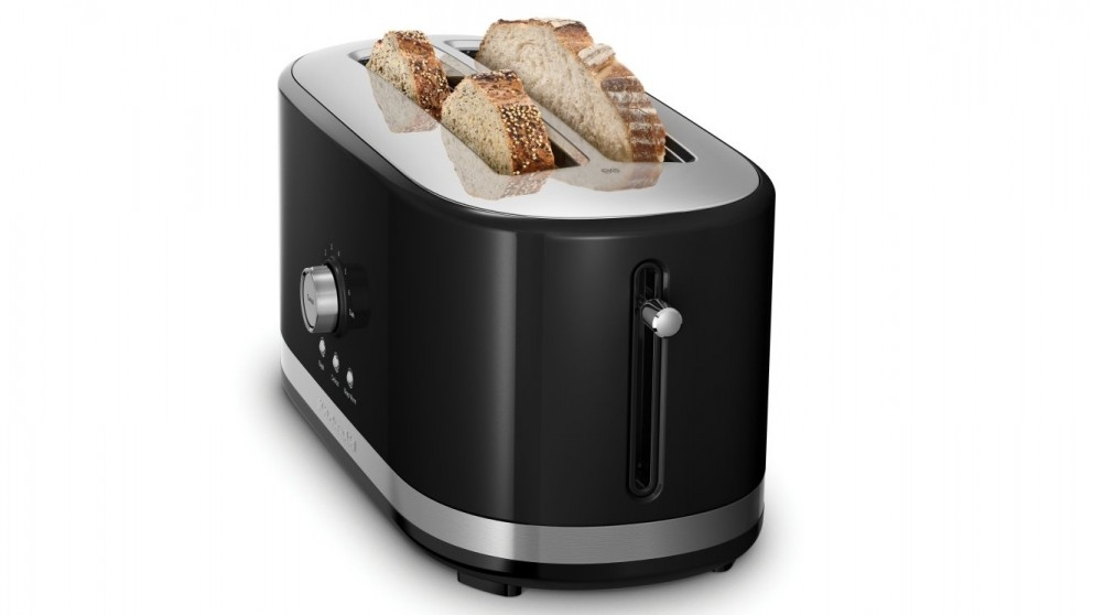 KitchenAid 4 Slice Long Slot Toaster yx Black Toasters