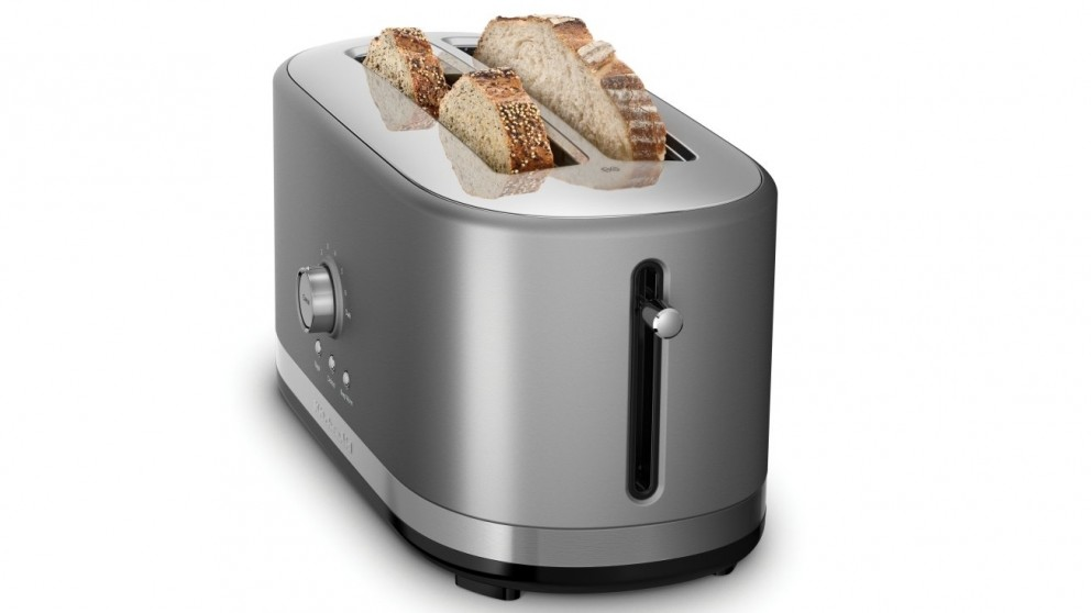 KitchenAid 4 Slice Long Slot Toaster - Contour Silver