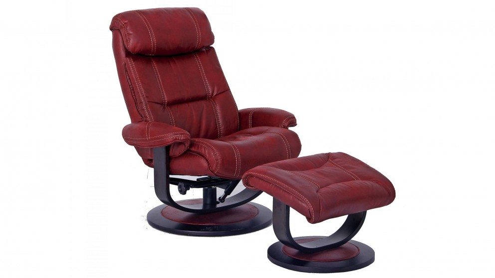 Stylo Fabric Recliner and Footstool