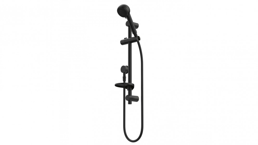 Caroma Urbane Multifunction Black Shower on Rail