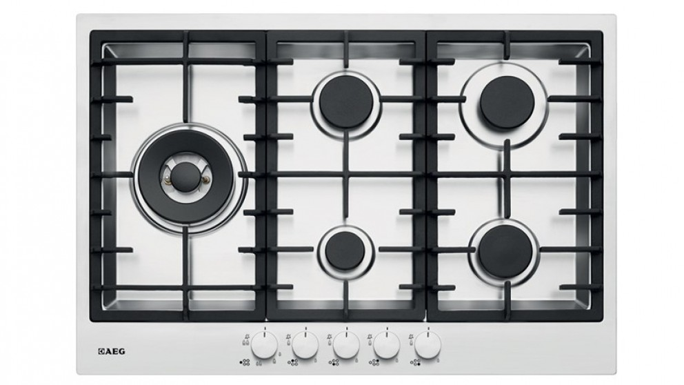 AEG 750mm 5 Burner Stainless Steel Gas Cooktop