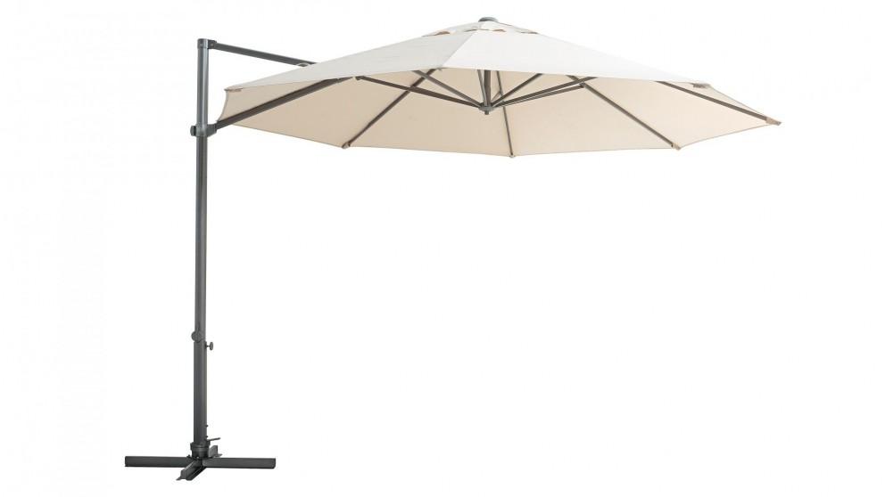 Pambula 3.3m Octagonal Cantilever Outdoor Umbrella - Taupe