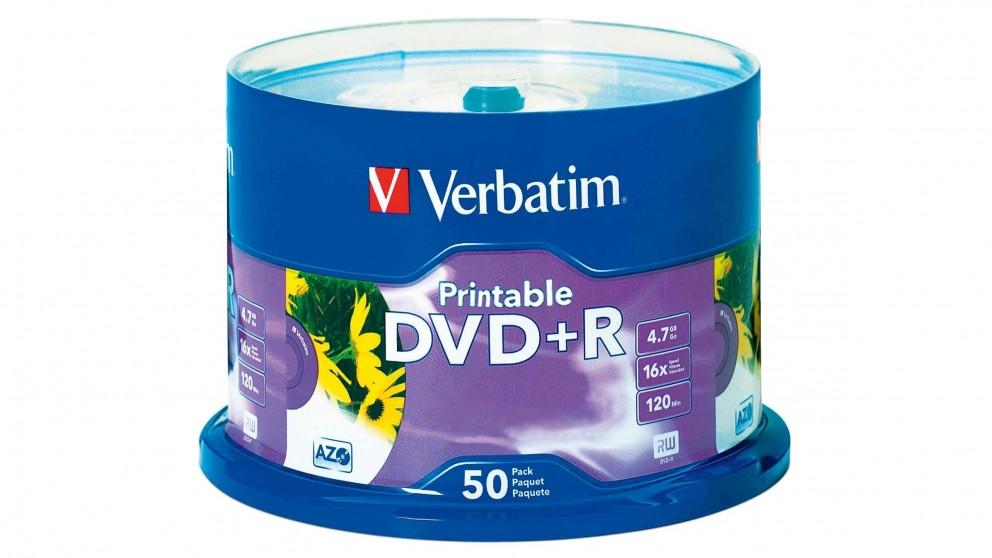 Verbatim DVD+R 4.7GB 50Pk White Inkjet 16x