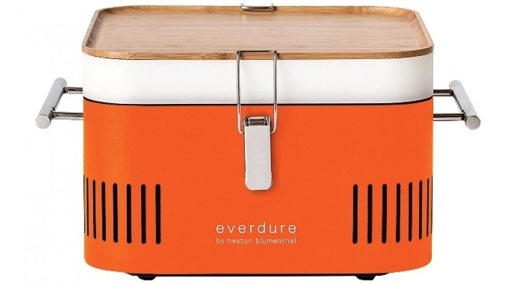 Everdure by Heston Blumenthal CUBE Charcoal BBQ - Orange