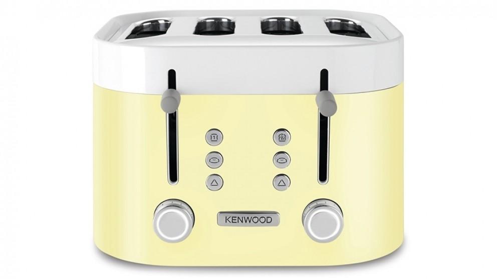Kenwood KSense 4 Slice Toaster - White/Yellow