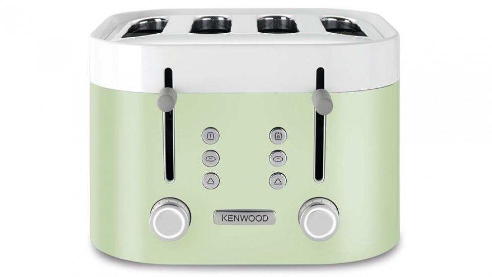 Kenwood KSense 4 Slice Toaster - White/Green