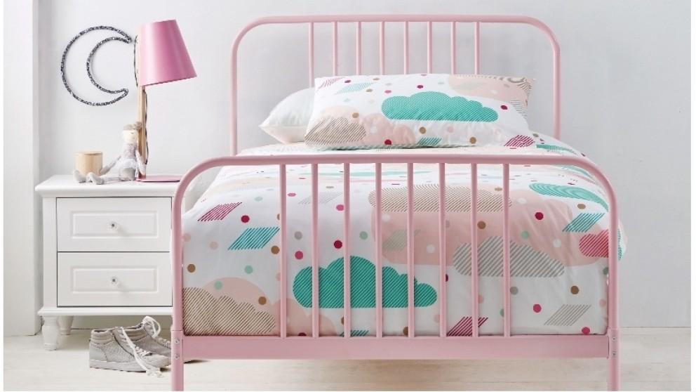 Buy Calais Single Bed - Pink | Harvey Norman AU