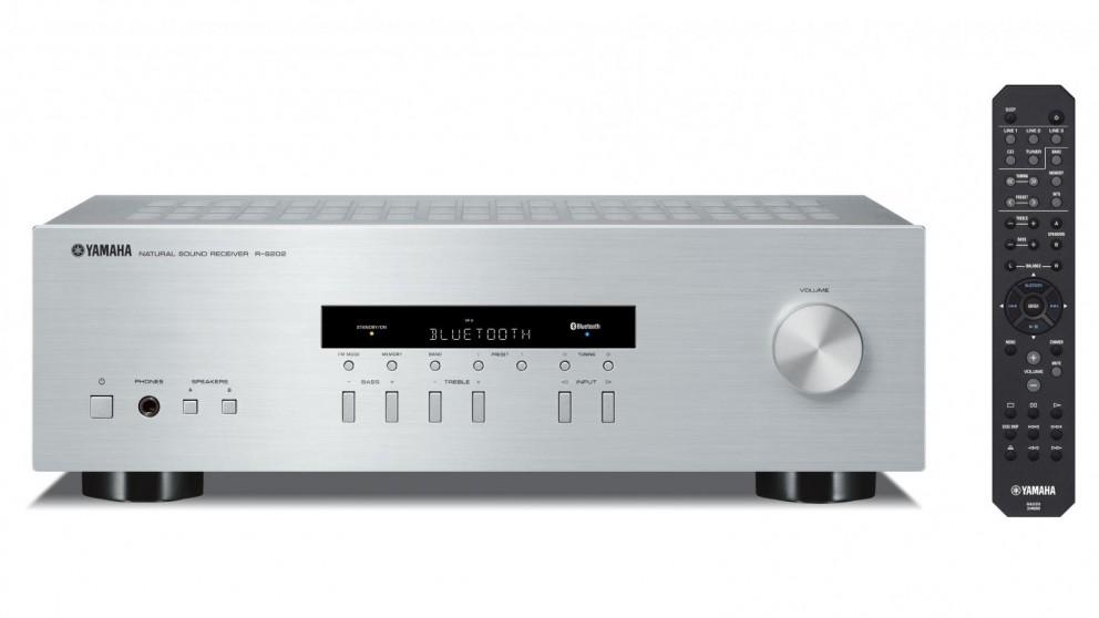 Buy yamaha rs202s av receiver silver harvey norman au for Yamaha tv receiver