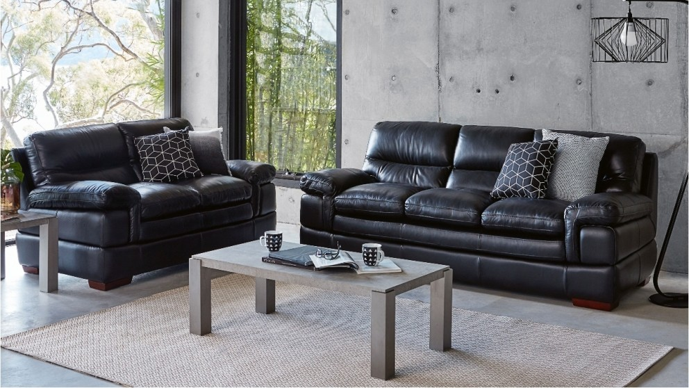 Buy Salford 2 Piece Leather Lounge Suite | Harvey Norman AU