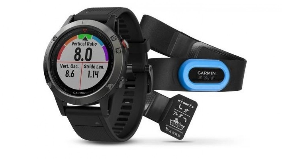 Garmin Fenix 5 Performer Bundle GPS Watch - Slate Grey