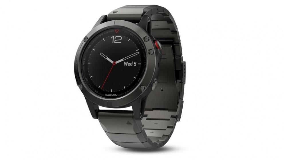 Garmin Fenix 5 Slate Grey GPS Watch - Slate Grey Metal
