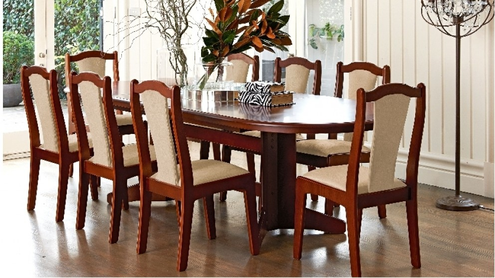 Carol Vada 9 Piece Double Extension Dining Suite