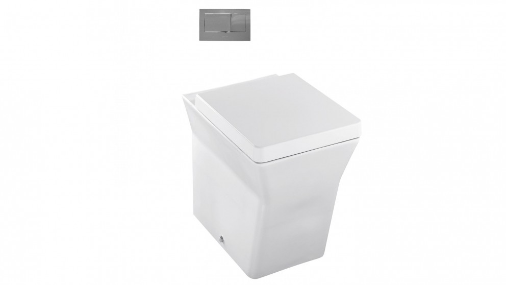 Kohler Reve Wall Faced Toilet with In-Wall Cistern and Bevel Flushplate