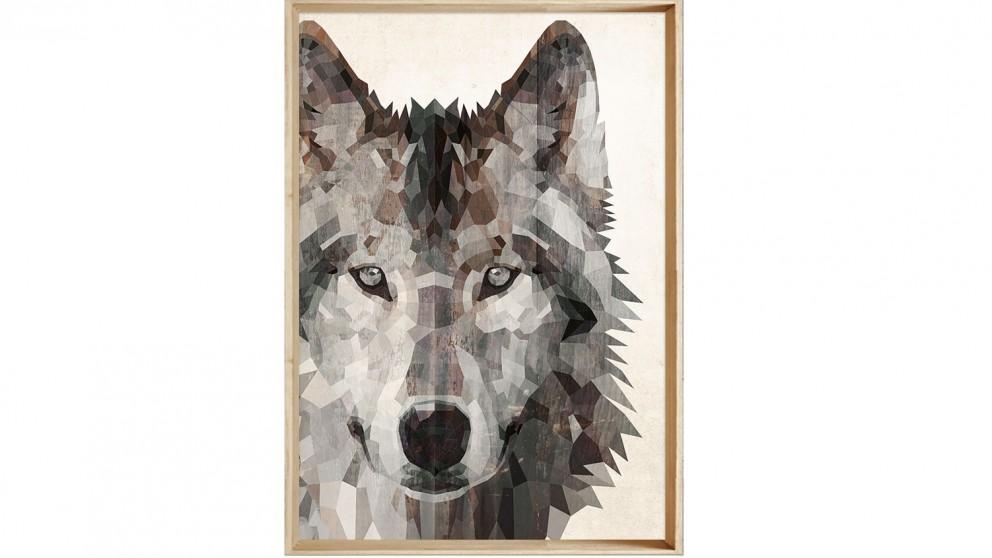 Geo Wolf Light Print