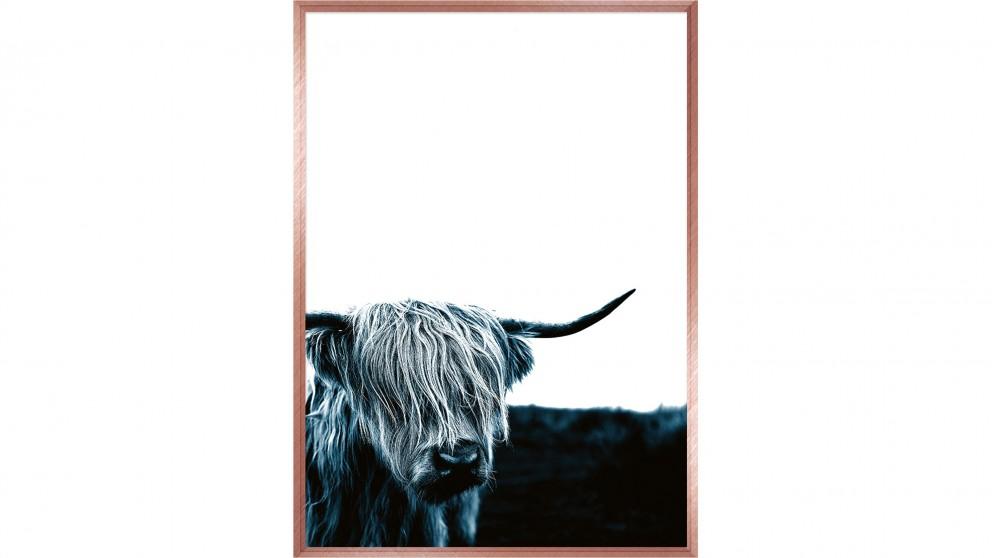 Blue Bull Print